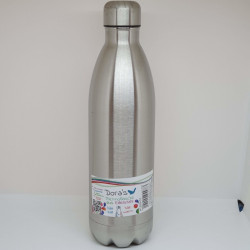 Bouteille thermo 1l - inox